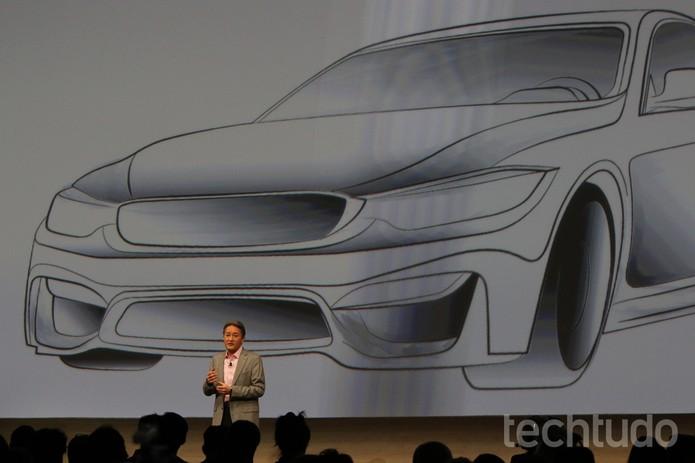 A Sony também apresentou novidades no mercado de carros inteligentes (Foto: Fabrício Vitorino/TechTudo)