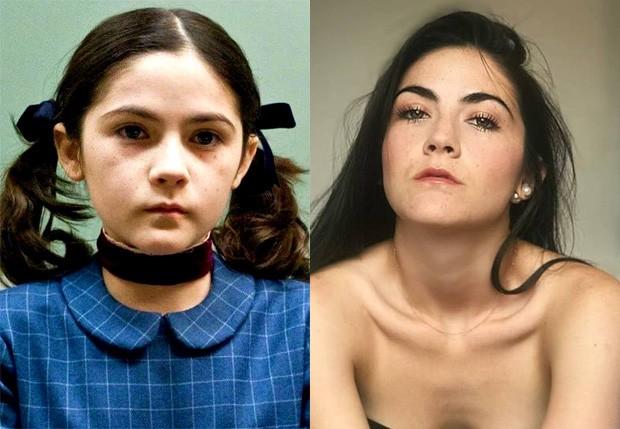 Isabelle Fuhrman aos 11 anos em A Órfã e em 2018 (Foto: Reprodução/Instagram)