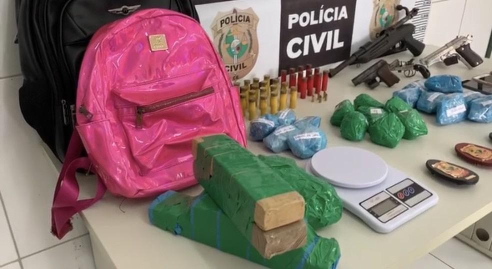 Material apreendido pela Polícia Civil durante a operação. — Foto: Divulgação