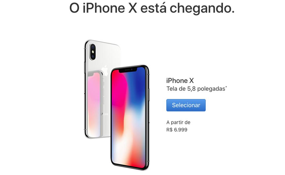 iPhone X tem desconto se comprado à vista (Foto: Reprodução/Apple)