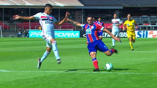 Com oito roubadas de bola, Gregore tem maior pontuação do jogo entre São Paulo e Bahia