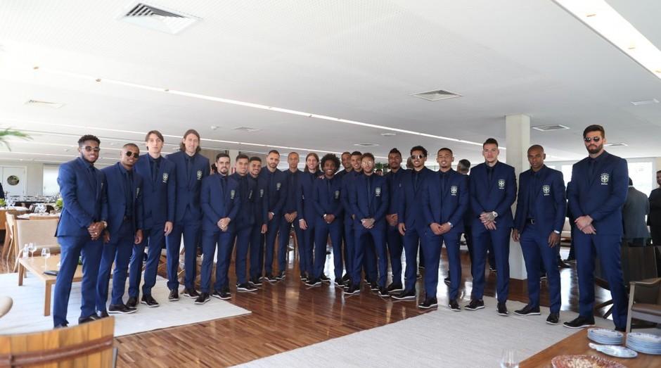 Seleção brasileira veste terno do alfaiate e empreendedor Ricardo Almeida (Foto: Divulgação)