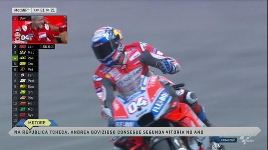 Andrea Dovizioso vence o Grande Prêmio da República Tcheca da MotoGP