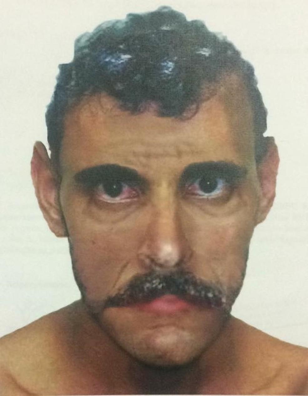 Polícia divulga retrato falado de suspeito de ejacular em mulheres dentro de ônibus em Fortaleza (Foto: Divulgação SSPDS)