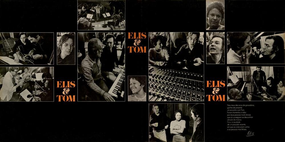 Encarte do álbum 'Elis & Tom', lançado por Elis Regina e Antonio Carlos Jobim em 1974 — Foto: Reprodução / Instituto Antonio Carlos Jobim
