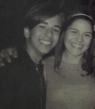 Bruna Thedy e Junior Lima na época do seriado (Foto: Reprodução)