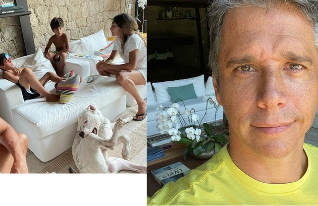 Detalhes da sala de Marcio Garcia: 'Eu sempre fui muito caseiro, fiquei bem mais com a pandemia' (Foto: Reprodução)