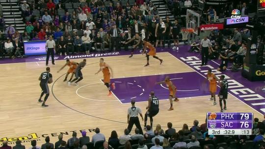 Leandrinho passa zerado, mas Booker, na última bola, garante vitória dos Suns