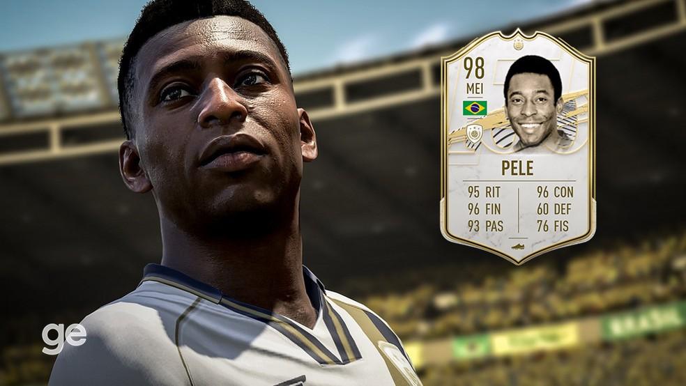 Pelé na versão Prime do FIFA 21 — Foto: Reprodução