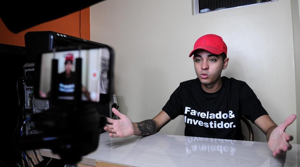 Murilo Duarte, que fez o canal Favelado Investidor — Foto: Claudio Belli/Valor