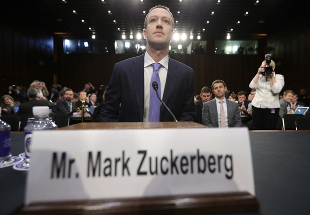 Mark Zuckerberg no Congresso dos EUA (Foto: Getty Images)