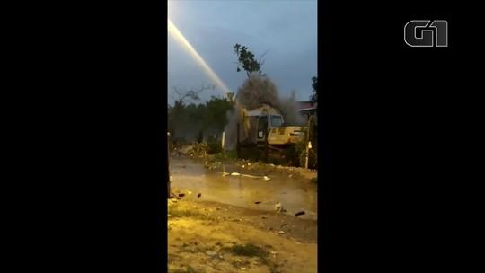 Adutora da Cedae se rompe em Nova Iguaçu