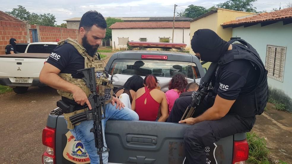 Mulheres foram presas pela Polícia Civil — Foto: Dicom/Divulgação