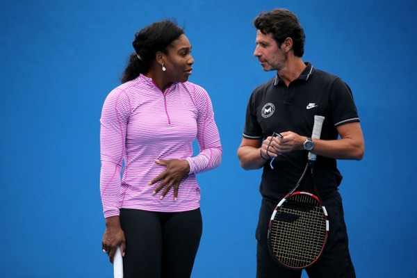 A tenista Serena Williams e seu técnico Patrick Mouratoglou (Foto: Getty Images)