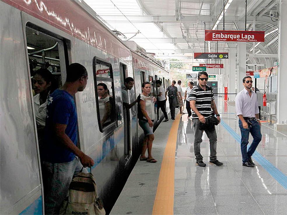Estação Bonocô do metrô de Salvador (Foto: Pedro Moraes/Gov Bahia)