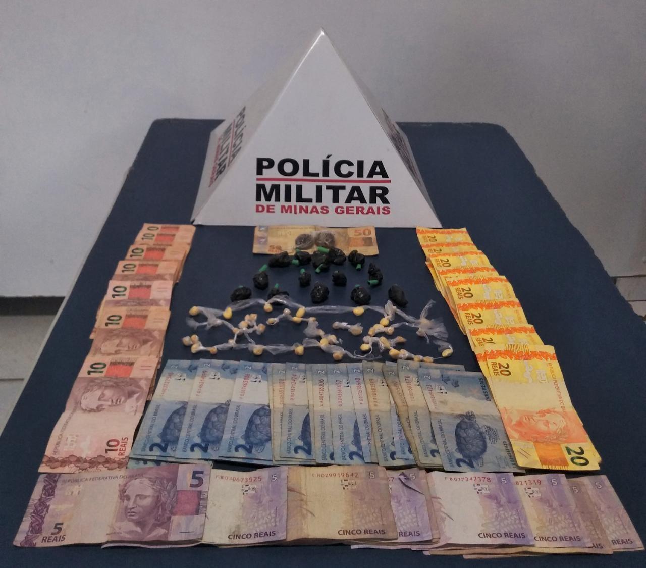 Jovem é preso com dinheiro e drogas no assentamento Glória em Uberlândia