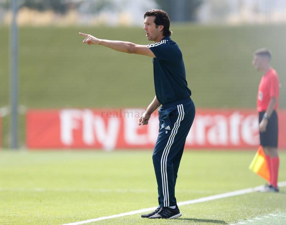 Santiago Solari é técnico do Real Madrid Castilla — Foto: Pedro Castillo / Real Madrid