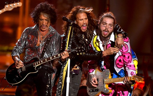 Joe Perry, Steven Tyler e Post Malone