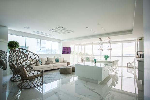 Conheça o apartamento do jogador de futebol Diego Tardelli em Santa Catarina (Foto: Daniela Buzzi)