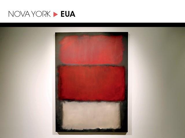 I.A. cravou que a obra Untitled, 1960, de Rothko, seria vendida por US$ 42,3 milhões. Saiu por US$ 51, 3 milhões (21,3% a mais que o previsto) (Foto: John Lamparski/Getty Images)