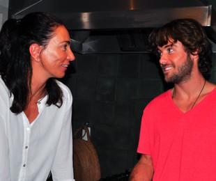 Kayky com Isabel, durante a entrevista | Divulgação