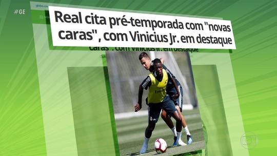 Vinicius Jr faz primeiro treino pelo Real Madrid