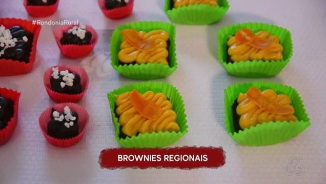 Aprenda a fazer um brownie com brigadeiro de açaí ou tucumã