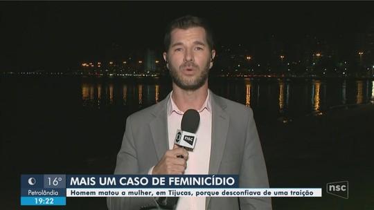 Homem é preso suspeito de matar  mulher a facada na Grande Florianópolis