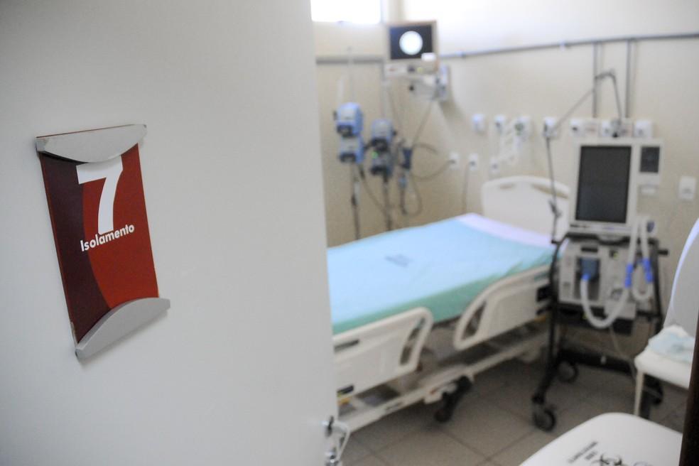 Leitos de UTI do Hospital Regional de Samambaia, no DF — Foto: Geovana Albuquerque/Agência Saúde