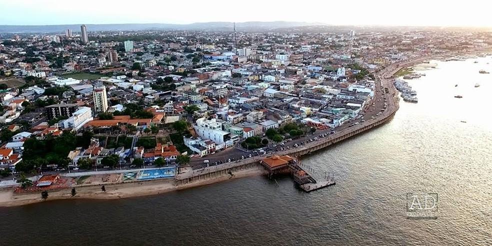 Vista aérea de Santarém — Foto: Ádrio Denner/ AD Produções