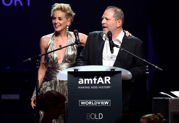 Sharon Stone e Harvey Weinstein (Foto: Getty Images)