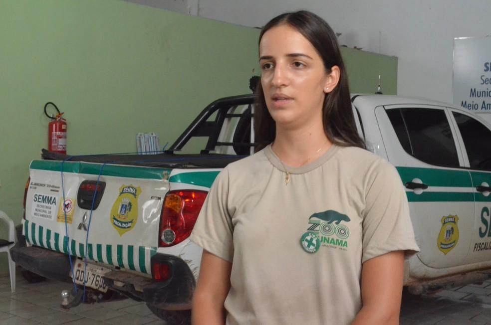 Médica veterinária Ianny Posiadlo (Foto: Fábio Cadete/G1)