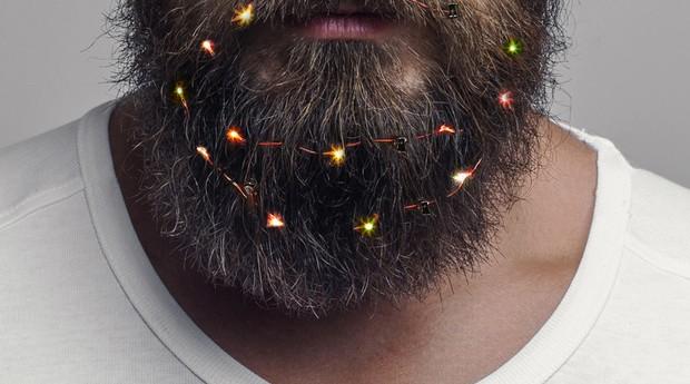 Beard Lights vende luzinhas de Natal para barbudos (Foto: Divulgação)