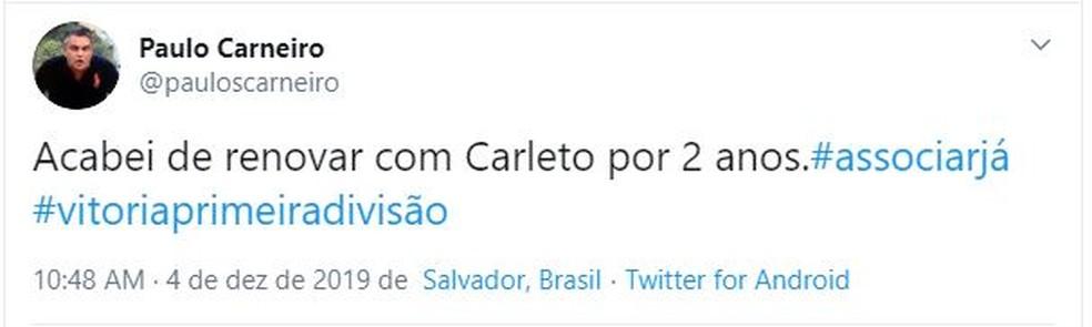 Paulo Carneiro; Vitória; Carleto — Foto: Reprodução