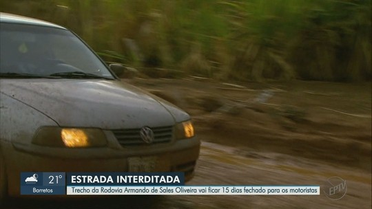 Trecho da Rodovia Armando de Salles Oliveira ficará fechado por 15 dias