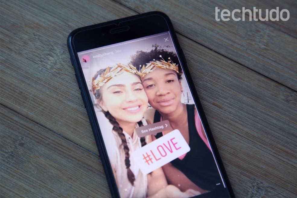 Instagram também permite seguir hashtags — Foto: Carolina Ochsendorf/TechTudo