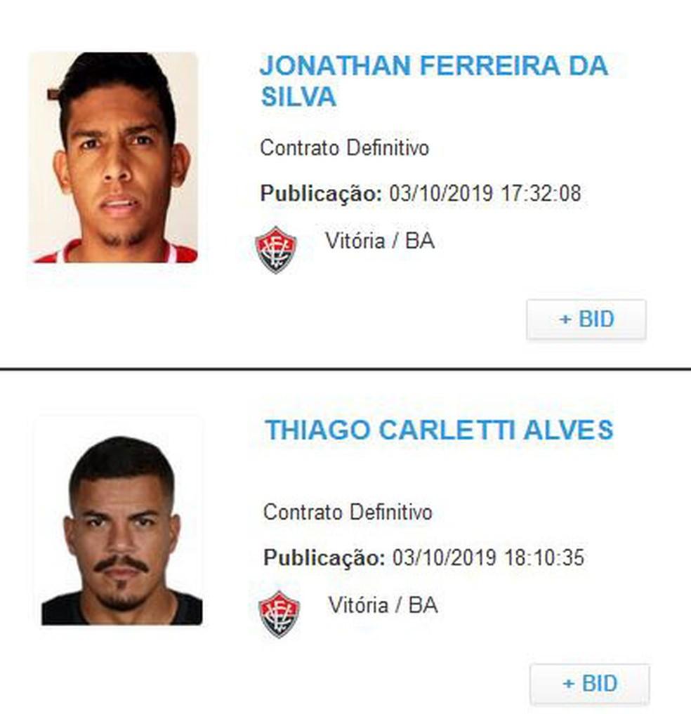 Regularizados Jonathan Bocão E Thiago Carleto Podem Estrear