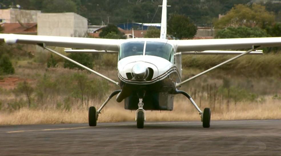 Aeroporto de Poços de Caldas (MG) é o que possui a menor taxa de ocupação das aeronaves no Sul de Minas (Foto: Reprodução / EPTV)