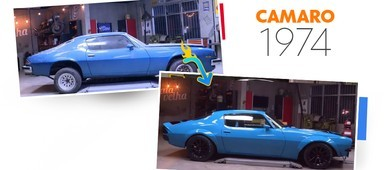 Dono de Camaro reformado diz que carro é um sucesso (reprodução)