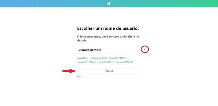 O nome de usuário é o que será mencionado pelas pessoas e utilizado para responder (Foto: Reprodução/Clara Barreto)