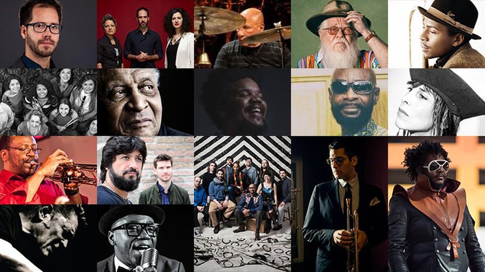 Artistas que tocam no Jazz na Fábrica, festival no Sesc Pompeia (Foto: Divulgação/Site do evento)