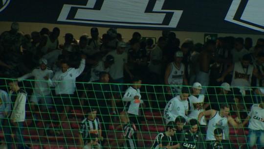 Confusão na torcida do Atlético-MG toma conta da arquibancada do Independência