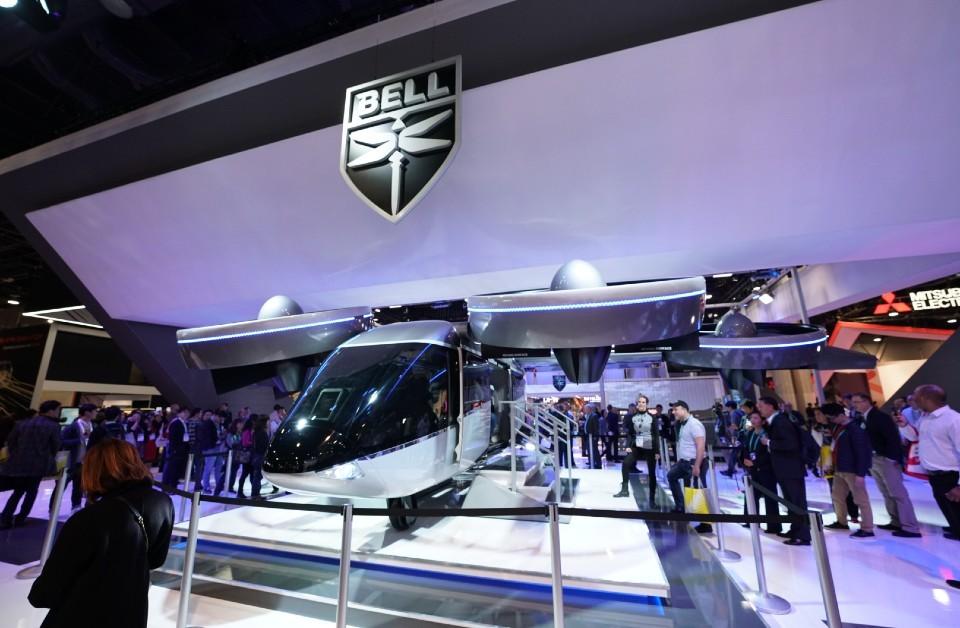 Modelo do carro voador da Bell na CES (Foto: Divulgação)