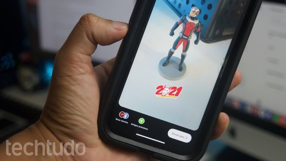 Ano do Boi 2021: Instagram lança novo sticker para comemorar Ano Novo Chinês — Foto: Marvin Costa/TechTudo