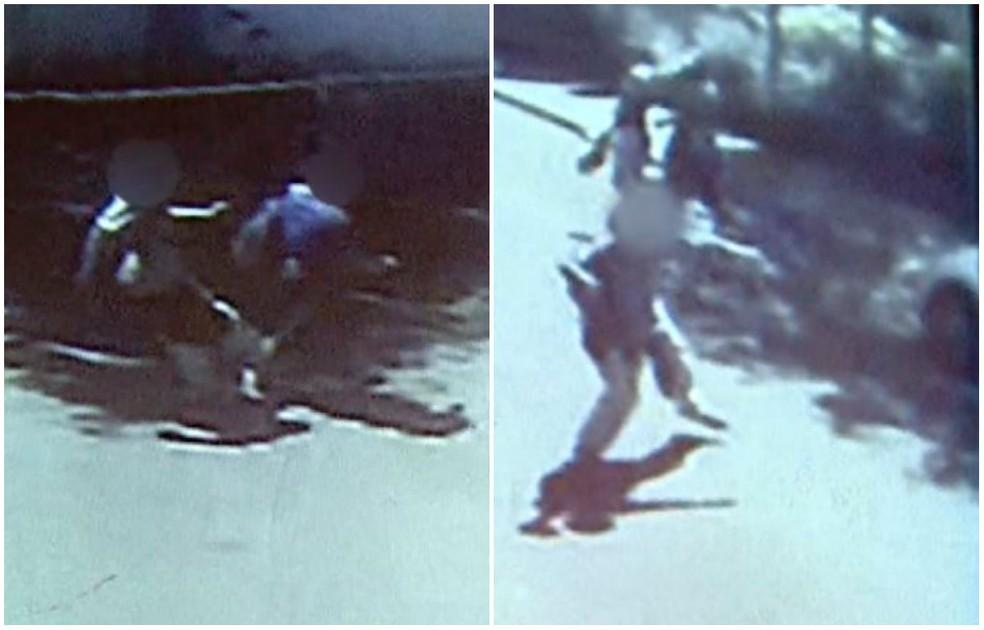 Imagens mostram agressão a professor e carro sendo depredado em São Carlos (Foto: Reprodução/ EPTV)