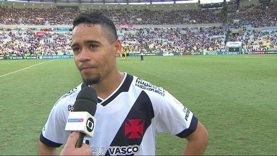 """Pikachu se diz frustrado com gol no fim e pede Vasco mais forte em 2020: """"Sofremos bastante"""""""