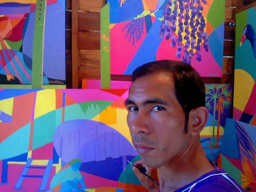 Exposição de artes visuais terá obras produzidas por Jeriel Souza — Foto: Jeriel Souza/Arquivo Pessoal