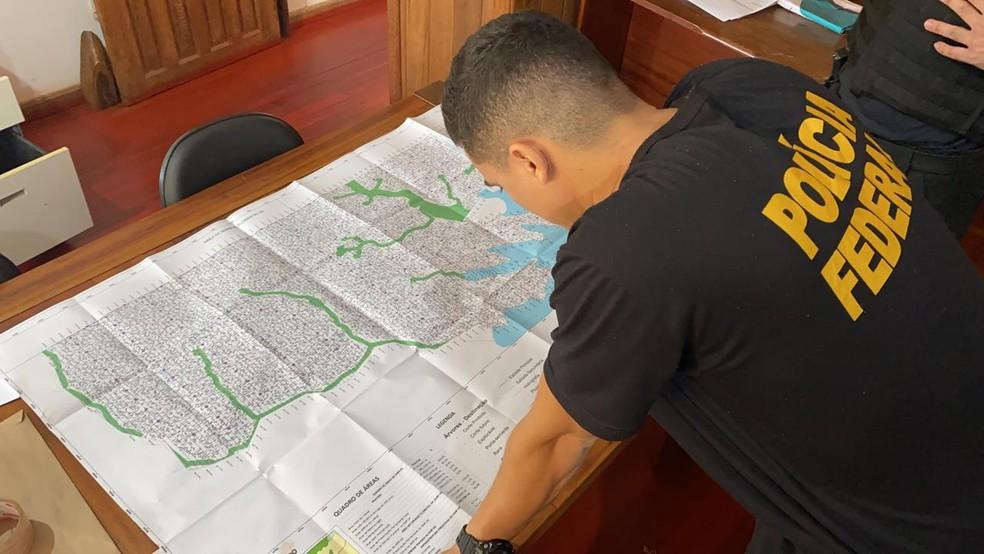 PF durante operação Deforest 2 em Rondônia — Foto: Polícia Federal/Divulgação