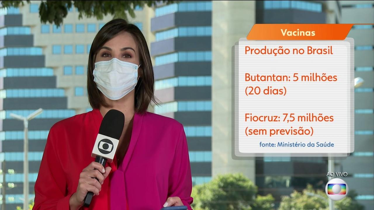 Fiocruz e Butantan aguardam a chegada de matéria-prima para vacinas contra Covid