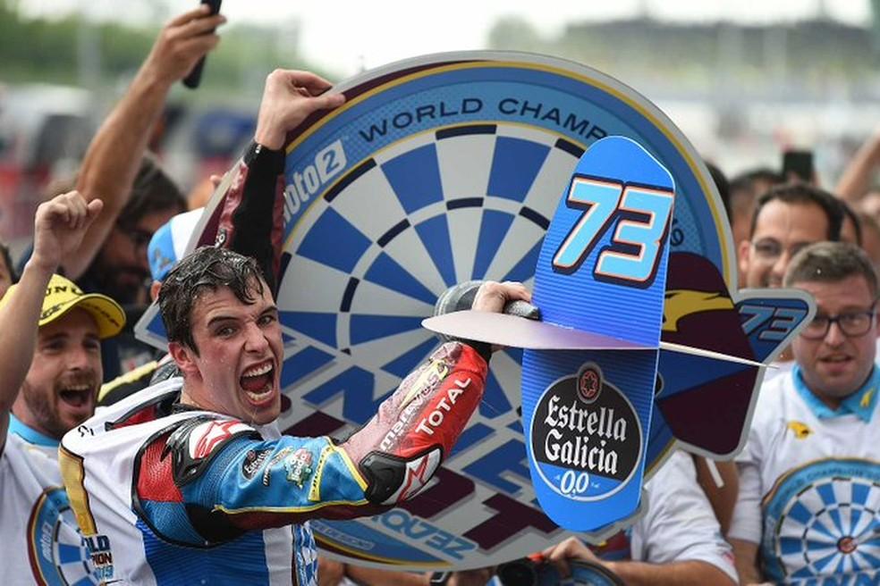 Alex Márquez: lance vencedor... — Foto: Internet